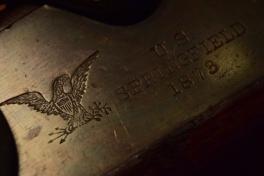 macro photo antique springfield rifle