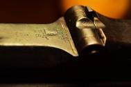 macro photo antique springfield rifle gun sights