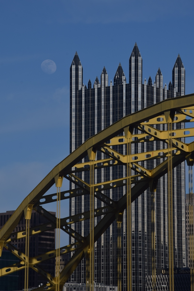 moon PPG building fort pitt bridge downtown pittsburgh