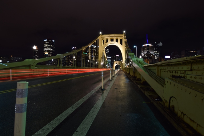 clemente bridge pittsburgh brake light trail