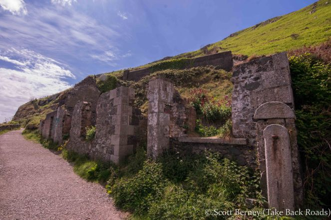 Ancient ruins Cliff Walk Bray Greystones Dublin Ireland