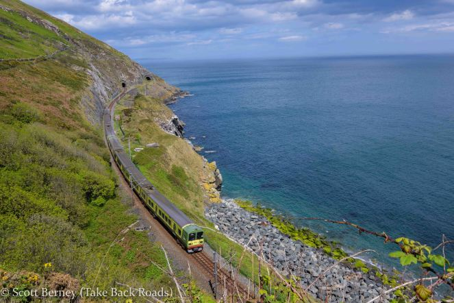 Cliff Walk Greystones Bray DART train subway light rail Atlantic Ocean County Wicklow Dublin Ireland
