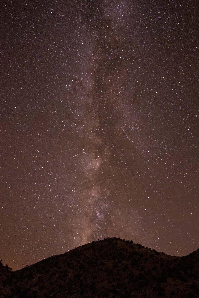 Milky Way mountain California desert Mojave