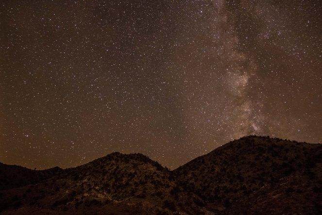 Milky Way mountain California Mojave desert
