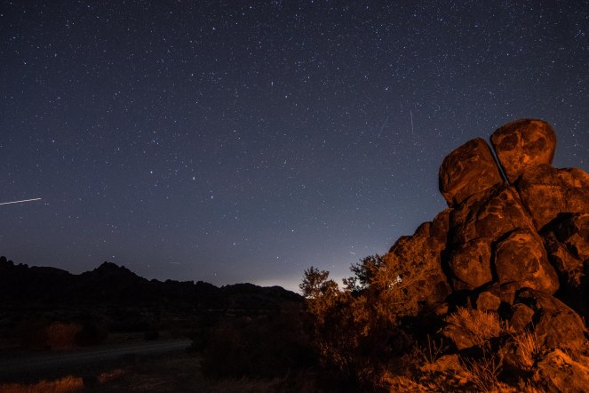 stars starry rock formation mountains Big Dipper