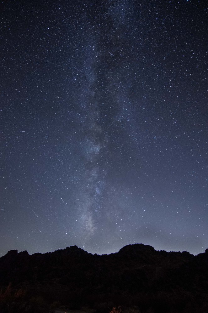 Milky Way galaxy stars starry sky star trail shooting star night mountains California