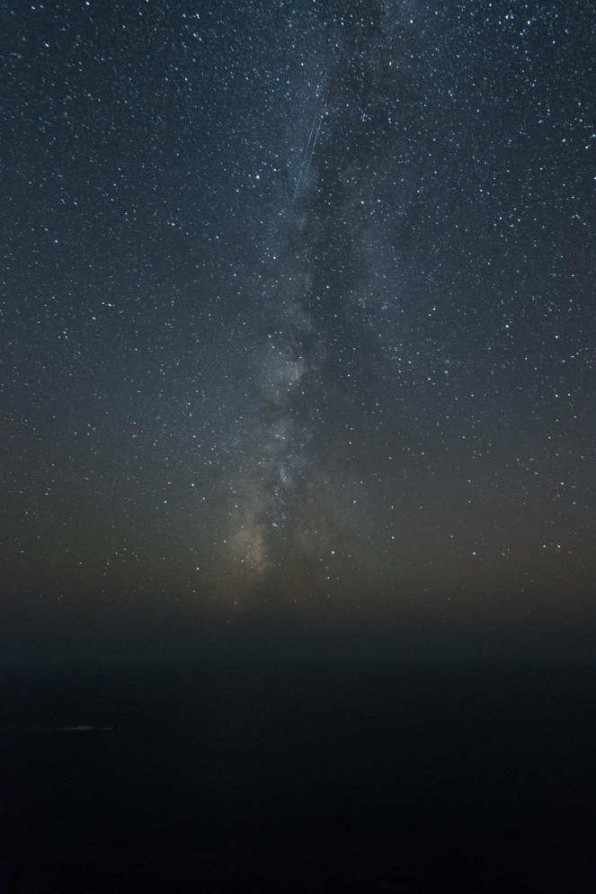 Milky Way galaxy over Big Sur California. Pacific Ocean. Constellations. Stars. Starry night. Dark sky. Dark skies. long exposure.