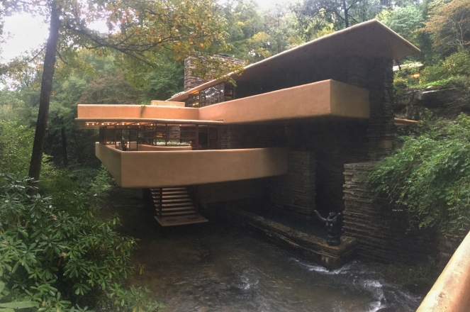 Fallingwater house designed by Frank Lloyd Wright