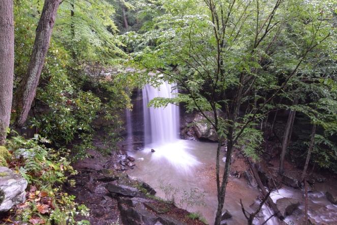 cucumber falls cucumber run forest woods bridal veil waterfall trees